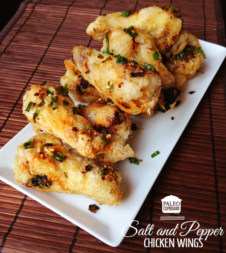 Salt and Pepper Chicken Wings - Paleo Cupboard
