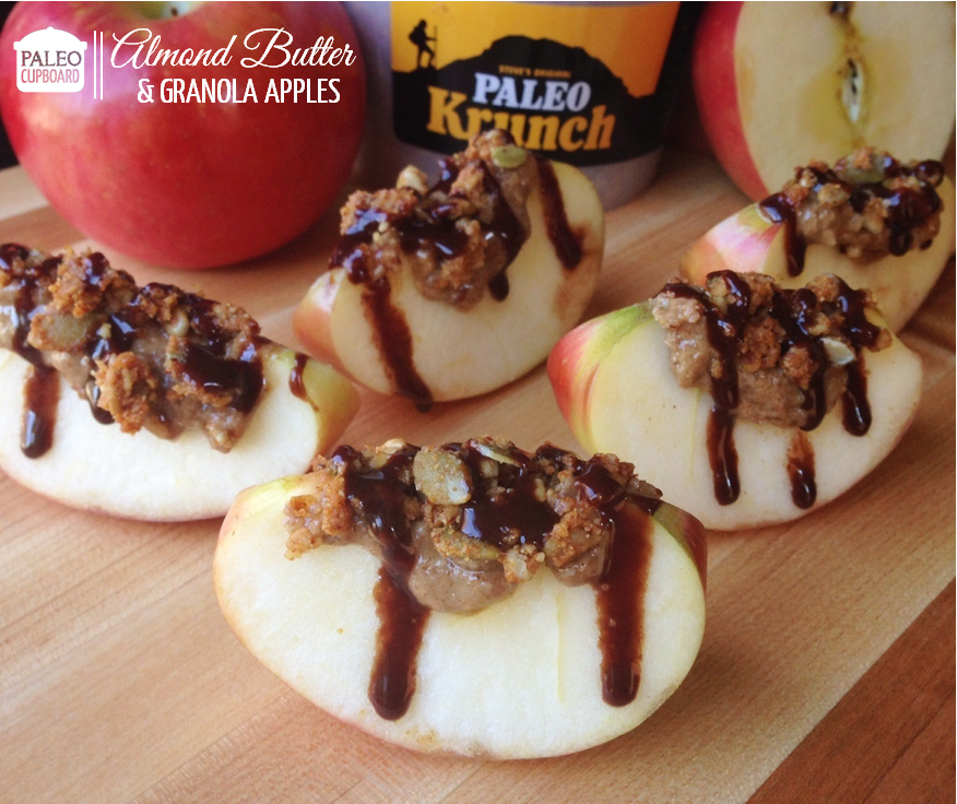 Paleo Almond Butter and Granola Apples