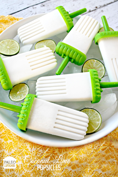 Paleo Coconut-Lime Popsicles