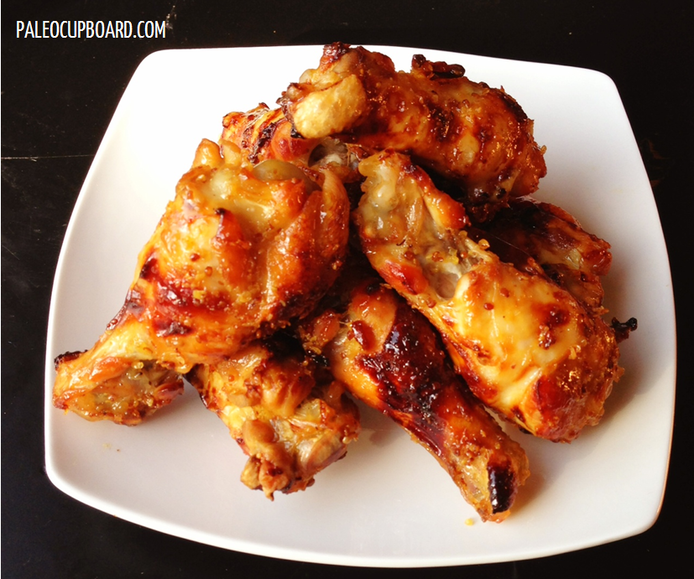 Paleo Honey Mustard Chicken Wings