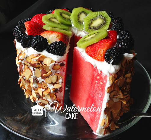 Watermelon Cake Recipe - Paleo Cupboard
